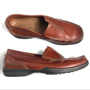 Clarks Men's Brown Leather Loafers Size 8M